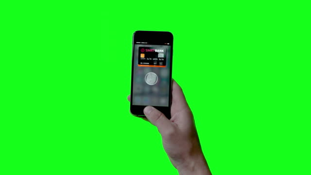 contactless payment with smartphone on green screen - near field communication stock videos & royalty-free footage