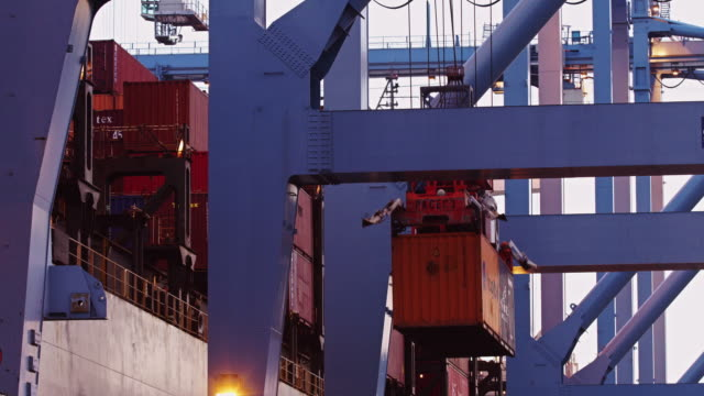 Container Crane Loading Ship
