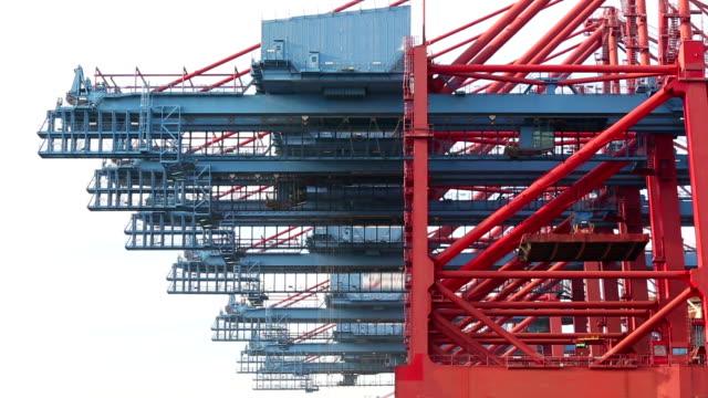 stockvideo's en b-roll-footage met container harbor, time-lapse - scheepvaart