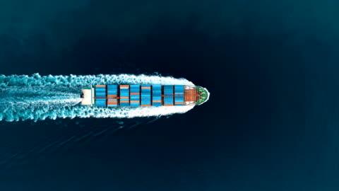 containerfartyg passerar genom yavuz sultan selim bridge antenn drönare filmen - istanbul 4 k - industri bildbanksvideor och videomaterial från bakom kulisserna