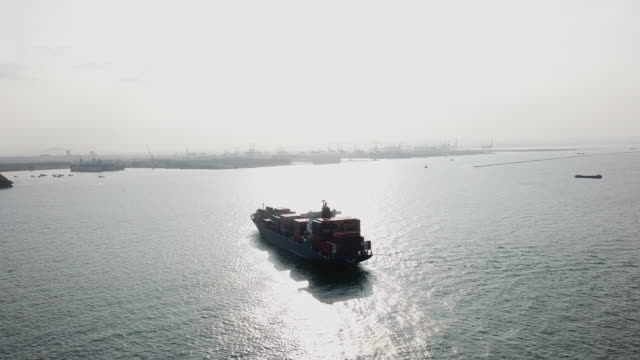 container ship in ocean - cargo ship stock videos & royalty-free footage