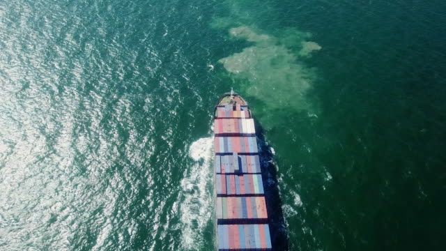 container ship in the ocean - bosphorus stock videos & royalty-free footage