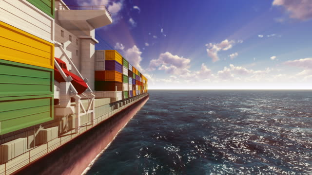 container ship out at sea - cargo container stock videos & royalty-free footage