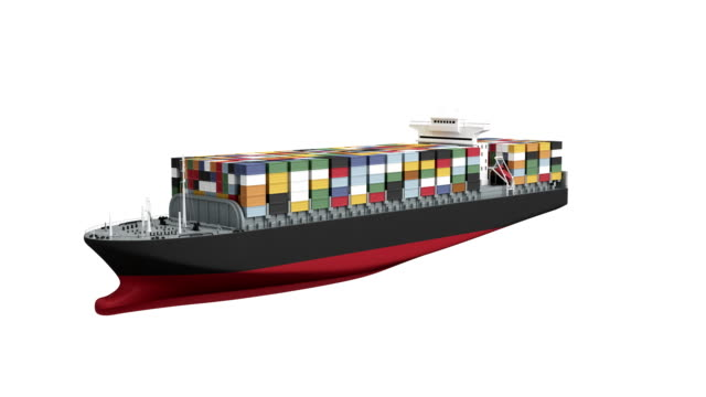 container ship spin with luma matte - luma matte stock videos & royalty-free footage