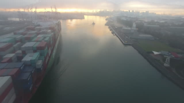 container ship travels under westgate bridge melbourne - david ewing stock videos & royalty-free footage