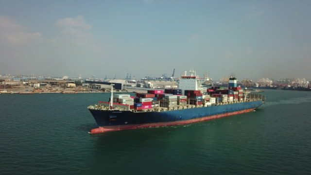 container ship - china east asia stock videos & royalty-free footage