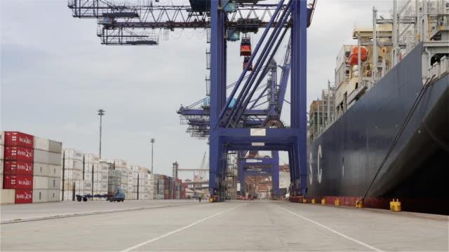 """ws container terminal at paranagua port / paranagua, brazil"" - brasile meridionale video stock e b–roll"