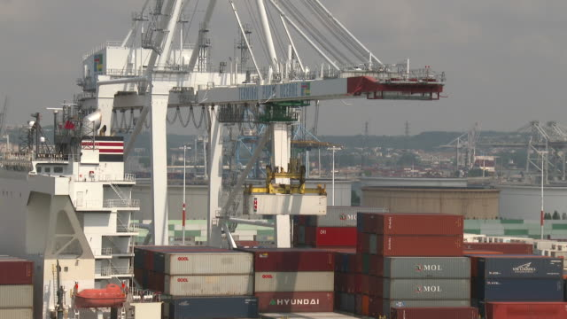 containers ship - france stock videos & royalty-free footage