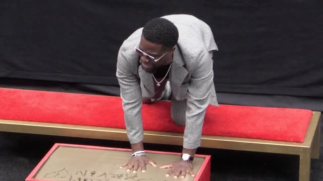 contains strong language will ferrell and dwayne 'the rock' johnson support kevin hart at his hollywood hand and footprint ceremony hart who is... - human hand stock videos & royalty-free footage