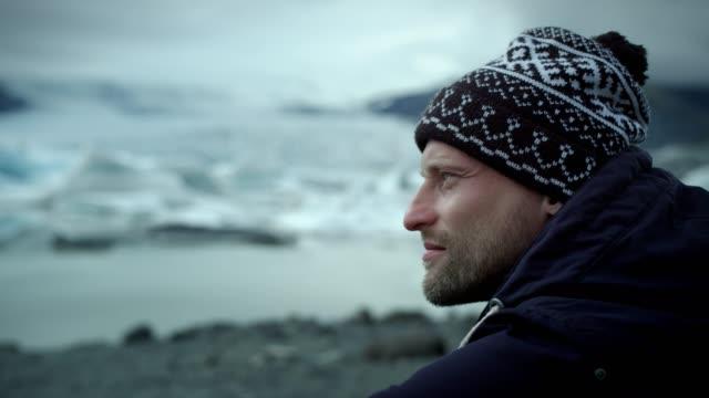 Contemplating glacier lagoon