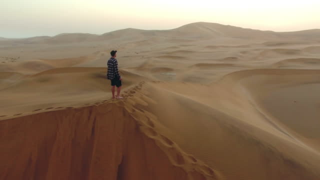 Contemplating the vastness of the desert