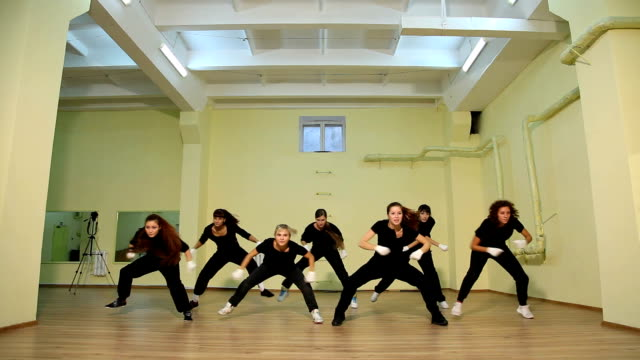 contemporary dance floor - hip hop stock videos and b-roll footage