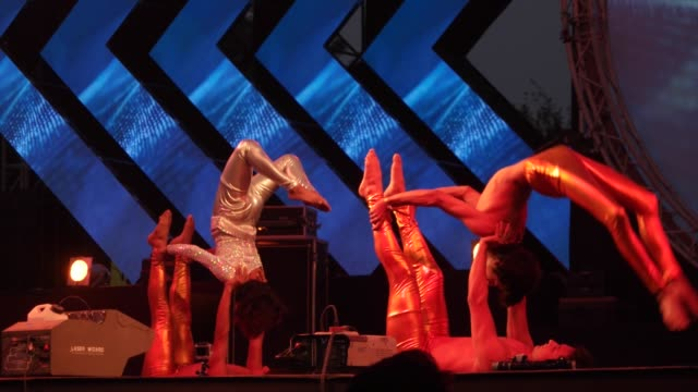 a contemporary dance performnace / 10 heads festival is a 4 day music festival held in delhi india headlined by grantley evan marshall 'daddy g' of... - acrobatic activity stock videos and b-roll footage