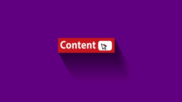 content button motion graphic and animation - mouse pointer stock videos & royalty-free footage