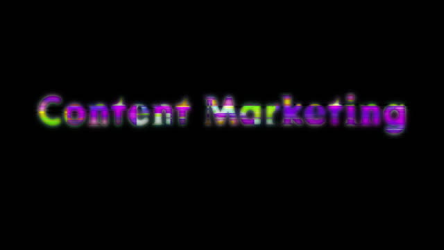 content marketing scan line words - content stock videos & royalty-free footage