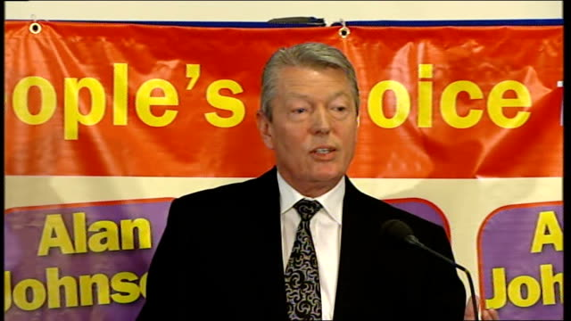 contest for deputy leader of labour party england london int alan johnson mp speaking at official launch of his campaign to become deputy leader sot... - alan johnson stock videos & royalty-free footage