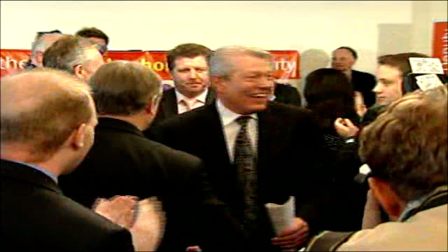 contest for deputy leader of labour party england london int alan johnson mp along to applause at official launch of his campaign to become deputy... - alan johnson stock videos & royalty-free footage