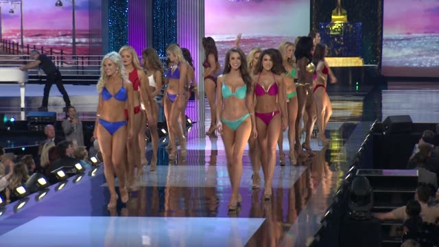 contestants at 2018 miss america preliminary competition footage on september 07 2017 in atlantic city new jersey - beauty contest stock videos & royalty-free footage