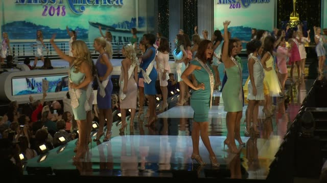 contestants at 2018 miss america preliminary competition footage on september 07 2017 in atlantic city new jersey - qualification round stock videos & royalty-free footage