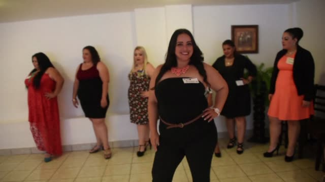 contestants get ready for the first miss plus size guatemala beauty pageant in guatemala city which is set for november 26 in the colonial city of... - beauty pageant stock videos and b-roll footage