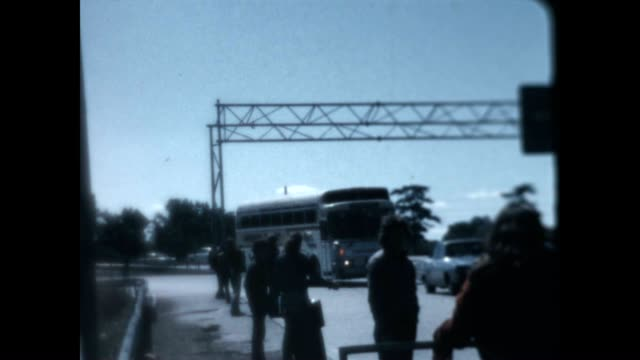 vídeos de stock e filmes b-roll de continental trailways bus ride to camp from a home movie archive - appalachia