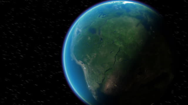 Continents break apart as Earth speeds around the Sun. Available in HD.