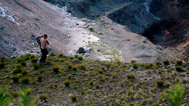 continue the hiking after the resting - shirtless stock videos & royalty-free footage