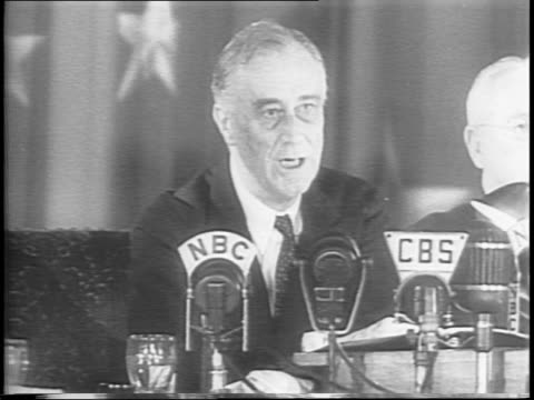 fdr continues speech / crowd applauds / fdr waves - 1944 stock videos and b-roll footage