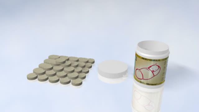 vídeos de stock e filmes b-roll de contracetivo comprimidos - vitamina a