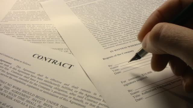 vídeos y material grabado en eventos de stock de serie de contrato - contrato