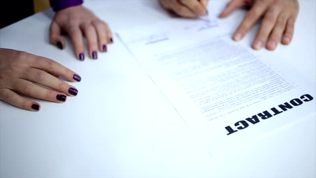 contract signing - lawyer stock videos and b-roll footage