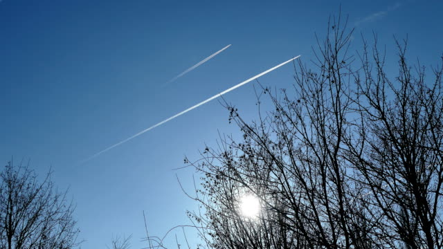 contrails - air to air shot stock videos & royalty-free footage
