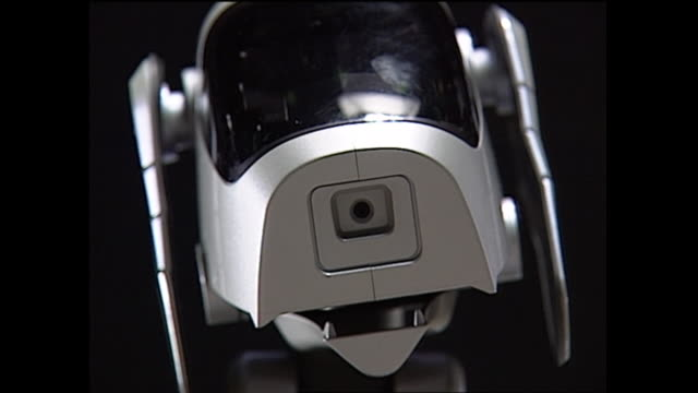 contributor approval required for all uses an 'adult' aibo robot goes through the motion of tilting its head - sony stock videos & royalty-free footage