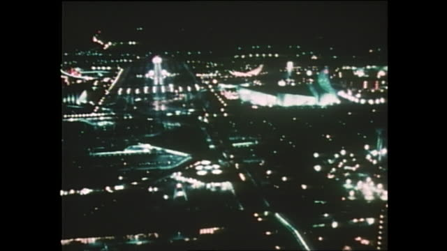 Contributor approval required for all uses Colorful lights illuminate the night of Expo 70 in Osaka / The Japan World Exposition 1970 was the first...