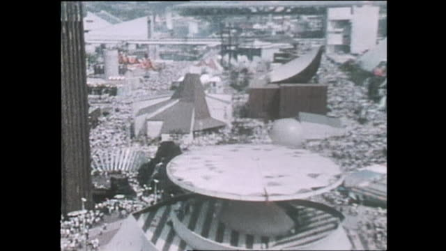 contributor approval required for all uses massive crowd fills the midway of expo 70 / the japan world exposition 1970 was the first world's fair... - world's fair stock videos & royalty-free footage