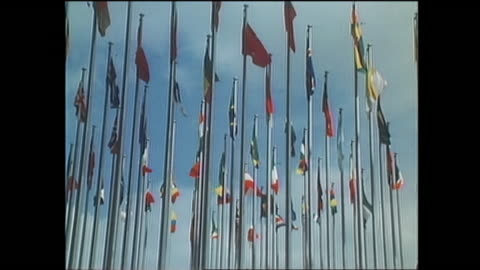 contributor approval required for all uses. national flags wave in a breeze at expo 70 in osaka. / the japan world exposition 1970 was the first... - world's fair stock videos & royalty-free footage