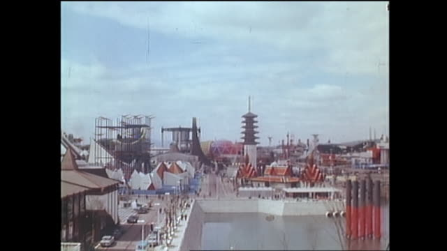 contributor approval required for all uses spectators walk around a midway of expo 70 in osaka / the japan world exposition 1970 was the first... - world's fair stock videos & royalty-free footage