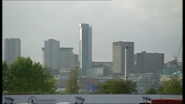 control of birmingham's children's services to be transferred to trust following failings r05111405 / pan birmingham skyline with skyscrapers and... - blocking stock videos and b-roll footage