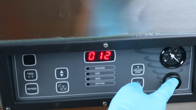 Control panel chamber vacuum machine