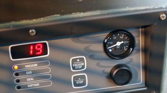 Control panel of chamber vacuum packaging machine