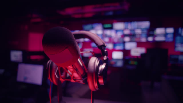 control room in television studio - broadcasting and radio broadcasting - radio broadcasting stock videos & royalty-free footage