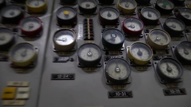 vídeos y material grabado en eventos de stock de control room inside chernobyl npp - nuclear energy