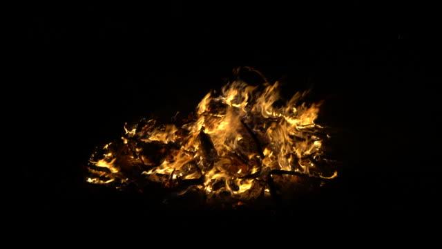 controlled bonfire - bonfire stock videos & royalty-free footage