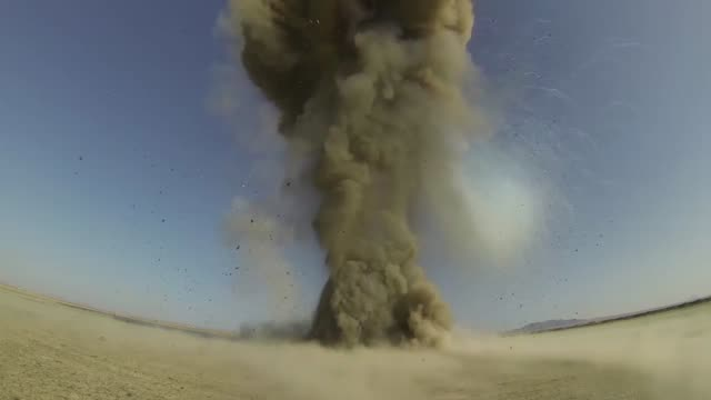 controlled detonations by air force explosive ordinance disposal technicians assigned to the 466th air expeditionary squadron kandahar, afghanistan... - afghanistan stock videos & royalty-free footage