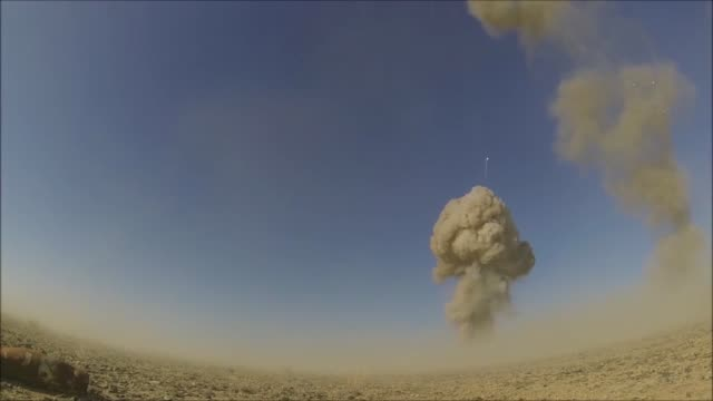 stockvideo's en b-roll-footage met controlled detonations by air force explosive ordinance disposal technicians assigned to the 466th air expeditionary squadron kandahar afghanistan in... - operation enduring freedom