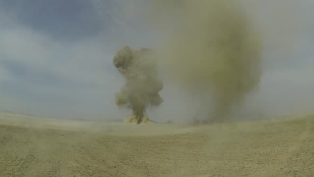 controlled detonations by air force explosive ordinance disposal technicians assigned to the 466th air expeditionary squadron kandahar afghanistan in... - operation enduring freedom stock videos & royalty-free footage