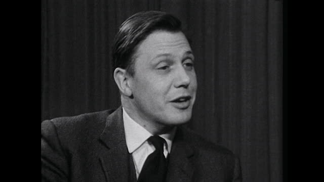 controller of bbc2 david attenborough talks about the amount of colour content that will be available on bbc2 in 1967 - bbc2 stock videos & royalty-free footage