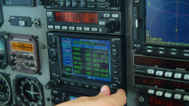 controlling an airplane - pilot stock videos & royalty-free footage
