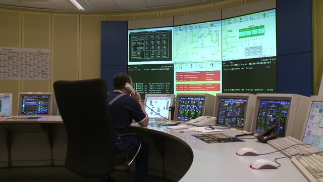 MS controlroom of coal power plant / Saarlouis, Saarland, Germany
