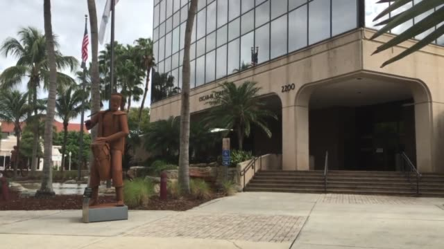 Controversial metal sculptures in Downtown Fort Myers Florida